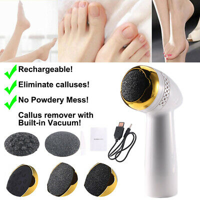 Electric Vacuum Foot Grinder File Dead Skin Callus Remover Rechargeable Pedicure