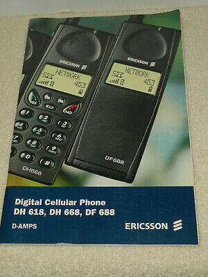 ERICSSON Dual Mode Digital Cellular Telephone Users Manual DH 618 DH 668 DF688