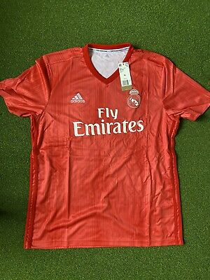 NWT Men's Real Madrid adidas 201819 Third Replica Jersey Large - Red