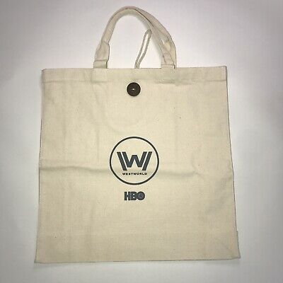 WESTWORLD HBO TV SHOW PROMO CREAM TOTE BAG BRAND NEW - RARE