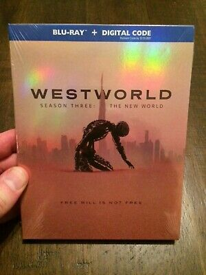 WESTWORLD SEASON 3 THE NEW WORLD BLU-RAY-DIGITAL BRAND NEW FACTORY SEALED