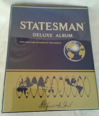 Harris Statesman Deluxe Stamp Album of World Stamps - Over 3000 Stamps