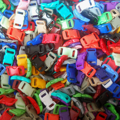 27 38 Curved buckle for Paracord Bracelet Mix 12- Colors DIY  Clasps Clips