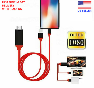 HDMI HDTV 1080P AV Adapter Cable for iPad iPhone 7 8 Plus X XS XR 11 12 Pro Max