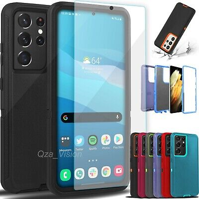 For Samsung Galaxy S21 21- Ultra Shockproof Rugged Cover Case - Screen Protector