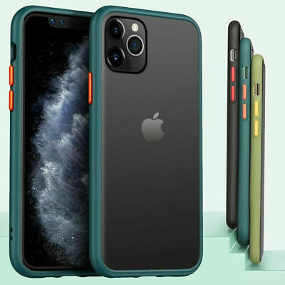 SHOCKPROOF Matte Clear Case For iPhone 12 11 Pro MAX Mini XR XS 78 PLUS Cover