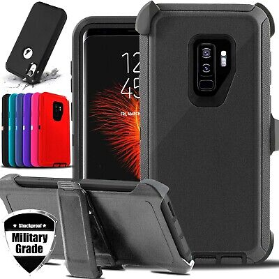 For Samsung Galaxy S9  S9- Shockproof Heavy Duty Rugged Case Cover - Belt Clip