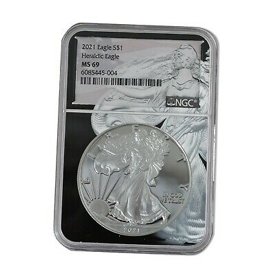 2021 $1 American Silver Eagle Type 1 NGC MS69 - EAGLE CORE