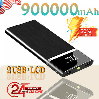 Fast Charger Portable Power Bank 900000mAh Ultra-thin External Battery Charger