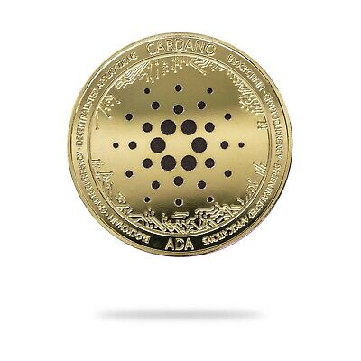 Cardano ADA Cryptocurrency Virtual Currency Gold Plated Coin  BITCOIN