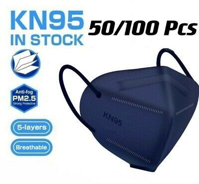 50100 Pcs Blue KN95 Protective 5 Layer Face Mask BFE 95 Disposable Respirator