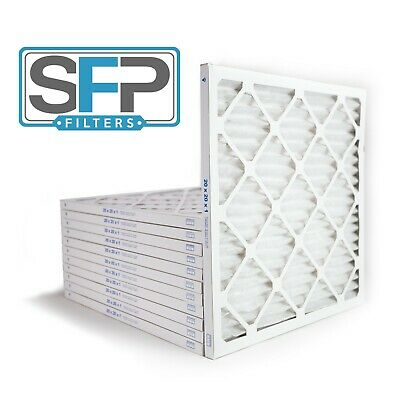 20x20x1 Merv 13 Pleated AC Furnace Filters- Case of 12 Captures airborne virus
