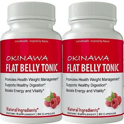 Okinawa Flat Belly Tonic 2 BOTTLE PACK NOW IN CAPSULES Powder