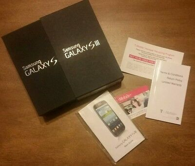 SAMSUNG GALAXY SIII SMART PHONE EMPTY BOX WITH MANUALS - PAPERWORK NO CELL PHONE