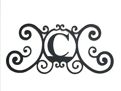 Iron Metal Letter C Personalized Initial Name Wall Art Decoration Minor Defect