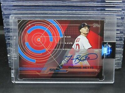 2014 Topps Mookie Betts Auto Autograph Red Sox L194