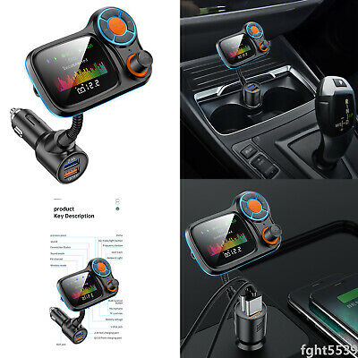 Wireless Bluetooth FM Transmitter Car Hand-free MP3 Player QC3-0 with LED Light