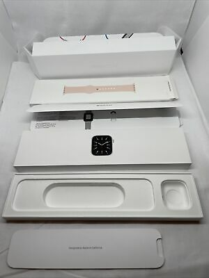 BOX ONLY Apple Watch Series 6 Silver Aluminum Case 40mm Pink Sand Sport Band Box