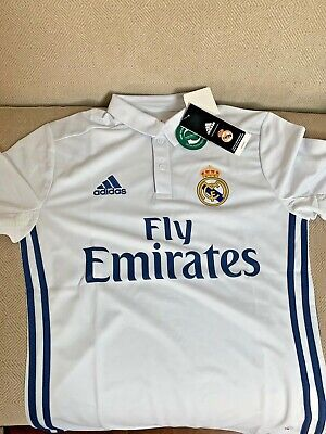 Real Madrid Adidas Youth Home Jersey M L XL Official Replica Brand New NWT 2016