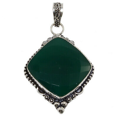 Green Onex Gemstone Mothers Day Girlfriend Gifted Silver Jewelry Pendant 2-25