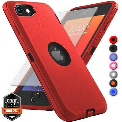 For Apple iPhone SE 2020 2nd Gen Rugged Shocproof Case Cover - Screen Protector
