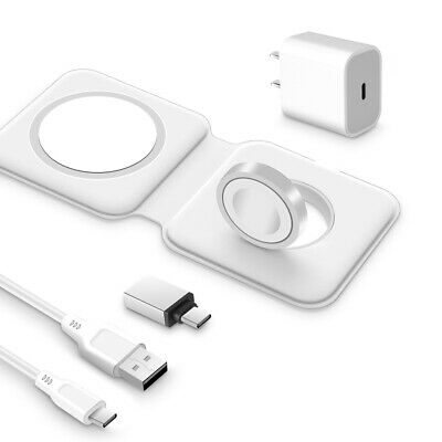 Magnetic Wireless Charger Charging Dock Station for Apple Watch - iPhone 13 12