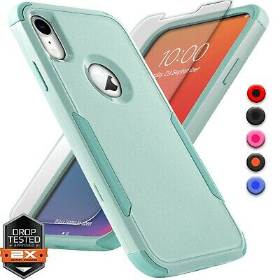 For Apple iPhone X Xs XR Max 10 Shockproof Bumper Case Cover - Screen Protector