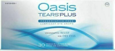 Oasis TEARS PLUS Lubricant Eye Drops Dry Eyes Exp 1021 or After NEW 30 Vials