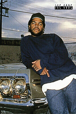 Ice Cube - Music  Personality Poster Chevy Impala Size 24 x 36