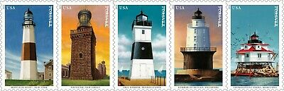5621-25 Mid-Atlantic Lighthouses Strip Of 5 Mintnh Delivery After 813