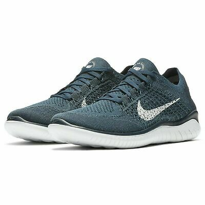 Nike Free RN Flyknit 2018 Running Shoes College Navy White 942838-400 Mens NEW