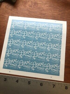 100 - USPS Love Skywriting Forever Stamps- Sheets of 20