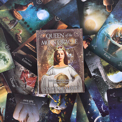 44PCS Queen Of The Moon Oracle Cards English Version Board Game Tarot Ca VV