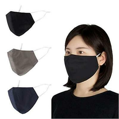 Be Wise Unisex Washable and Reusable Multi Pack Cloth Face Mask Black Size