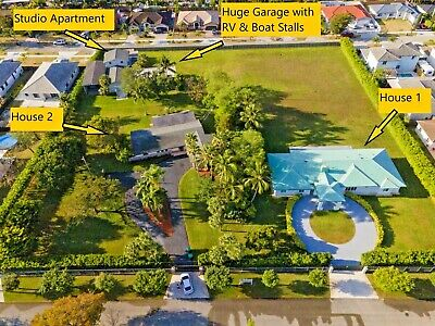 2-6 - Acre Family Compound in Miami FL with Huge GarageWorkshop RVBoatCar
