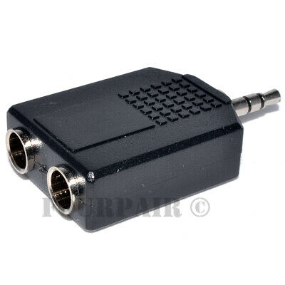 14 6-35mm Dual Stereo Female to 3-5mm 18 Male TRS Audio Y Splitter Adapter