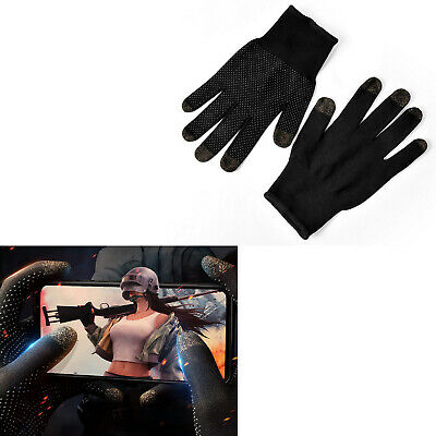 For Gaming Cycling Finger Thumb Sleeve Breathable Touch Screen Glove Sweat-Proof