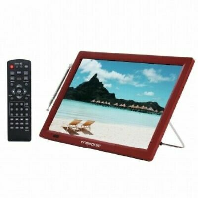 Trexonic 14 RED Portable Widescreen LED TV TRX-14D ACDC Remote HDMI SD USB AV