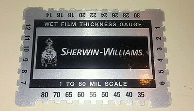 Wet Film Thickness Gauge Combs Mil Step notched for Paints 1 to 80 mil