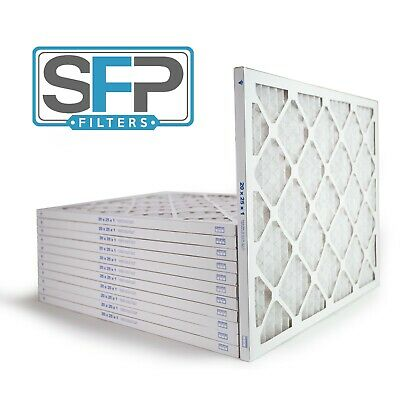 20x25x1 Merv 13 Pleated AC Furnace Filters- Case of 12 Captures airborne virus