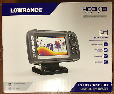 LOWRANCE HOOK2 4x with Bullet Transducer and GPS Plotter - 000-14014-001 New