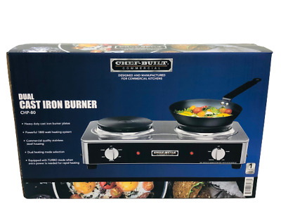 CHEF-BUILT Commercial Dual Cast Iron Burner CHP-80