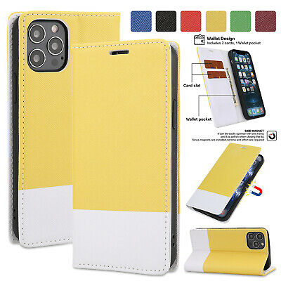 Magnetic Leather Wallet Card Case For iPhone 13 12 11 Pro Max XS XR 8 7 6S Cover