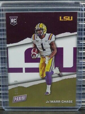 2021 Panini Fathers Day JaMarr Chase Silver Rookie Card RC 145199 LSU Y260