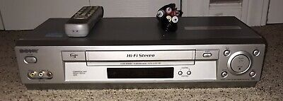 Sony Hi Fi Stereo SLV-N750 VHS Player Recorder With Remote And RCA Cables