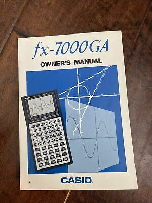 Casio Scientific Calculator Owners Instruction Manual ONLY Guide Book fx-7000GA