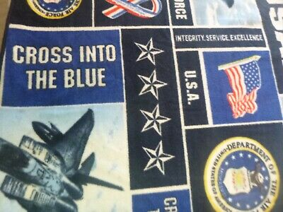 US Air Force  2 layer Fleece Blanket 70X59 Sewn Edges  Free Shipping