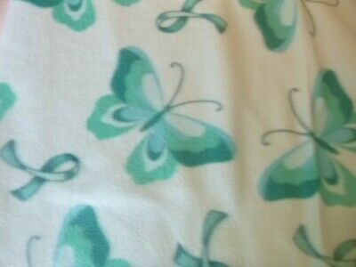 Cancer Awareness Teal 2 layer Fleece Blanket 70X59 Sewn Edges Free Shipping