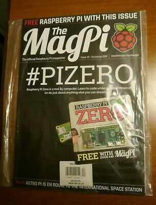 The MagPi Magazine With Raspberry Pi Zero Computer Sealed Collectable Issue 40