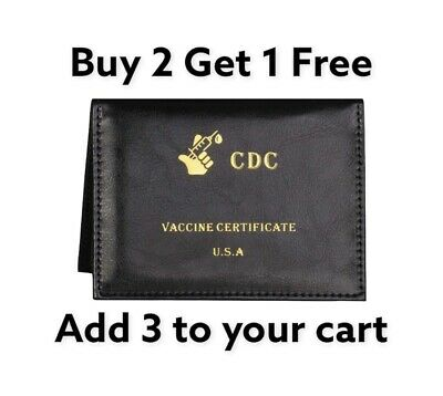 Vaccination Card Holder 4x3 Vaccine Protector CDC Wallet Certificate Protec